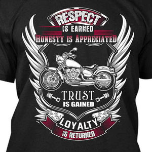 Respect Is Earned T-Shirt (BACK PRINT) - Blown Biker - 1