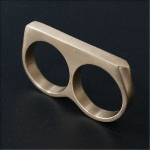 "316L Stainless Steel ""Double Knuckle"" Ring - Blown Biker - 3"