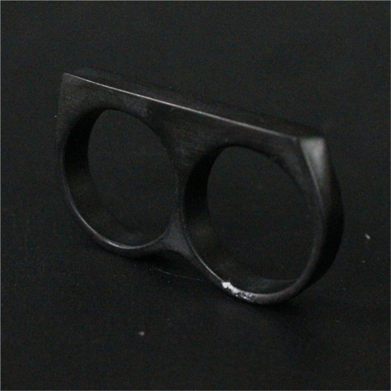 "316L Stainless Steel ""Double Knuckle"" Ring - Blown Biker - 6"