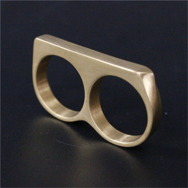 "316L Stainless Steel ""Double Knuckle"" Ring - Blown Biker - 4"