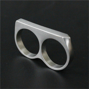 "316L Stainless Steel ""Double Knuckle"" Ring - Blown Biker - 5"