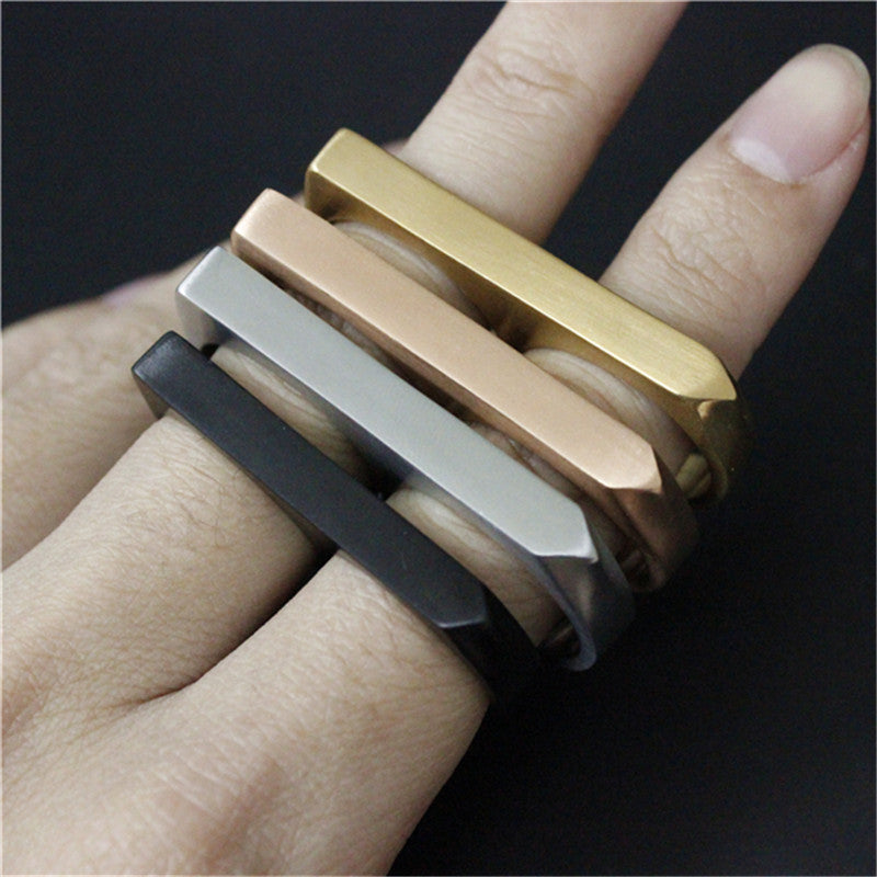 "316L Stainless Steel ""Double Knuckle"" Ring - Blown Biker - 2"