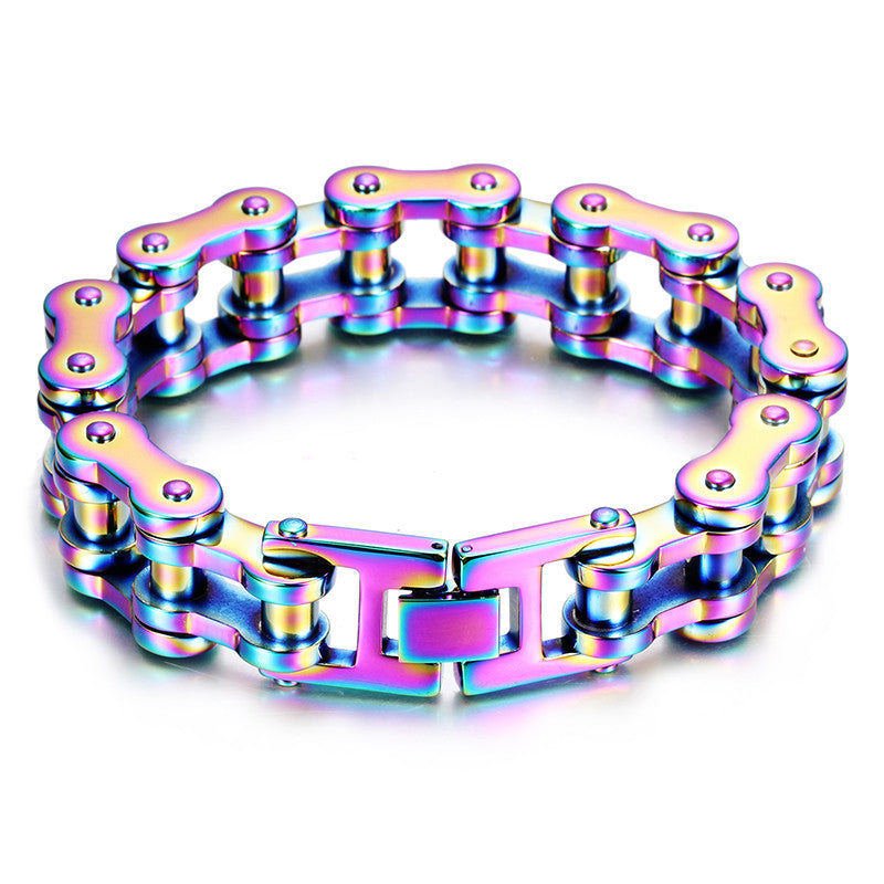 "316L Stainless Steel ""Rainbow"" Bracelet - Blown Biker - 1"