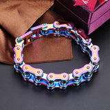 "316L Stainless Steel ""Rainbow"" Bracelet - Blown Biker - 2"
