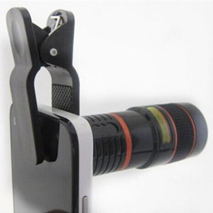 "12X ""Retina Zoom"" Cell Phone Telescope Lens - Blown Biker - 7"