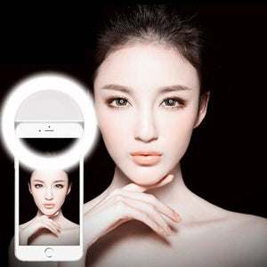 "LED ""Selfie"" Cell Phone Ring Light - Blown Biker - 6"