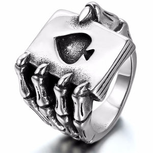 "316L Stainless Steel ""Ace Of Spades"" Ring"