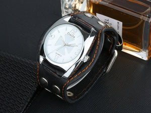 """Iron Cross"" Quartz Watch With Studded Leather Strap"