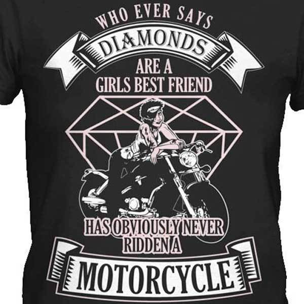 Whoever Says Diamonds Hoody - Blown Biker - 1