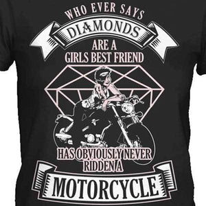 Whoever Says Diamonds T-Shirt - Blown Biker - 1