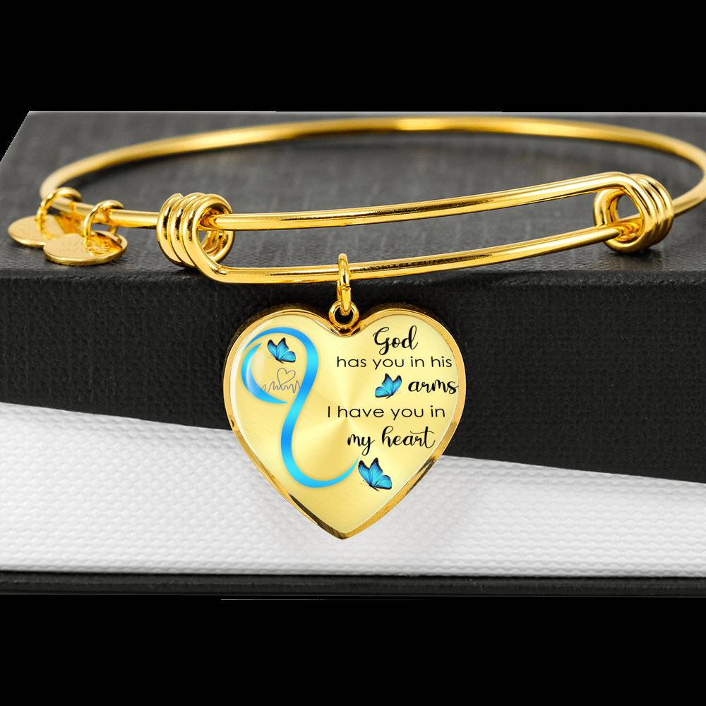 Customizable Butterfly 'God Has You In His Arms' Luxury Bangle - Blown Biker - 1