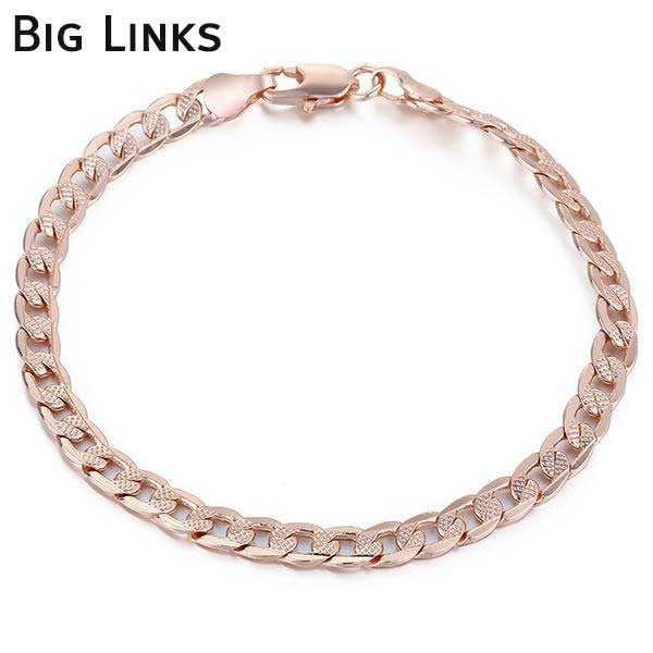 "Rose Gold Filled ""Rolo"" Ladies Bracelet - Blown Biker - 5"