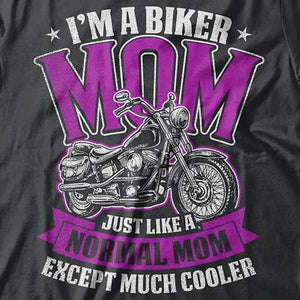 """Biker Mom"" Hoody (FRONT PRINT) - Blown Biker - 1"