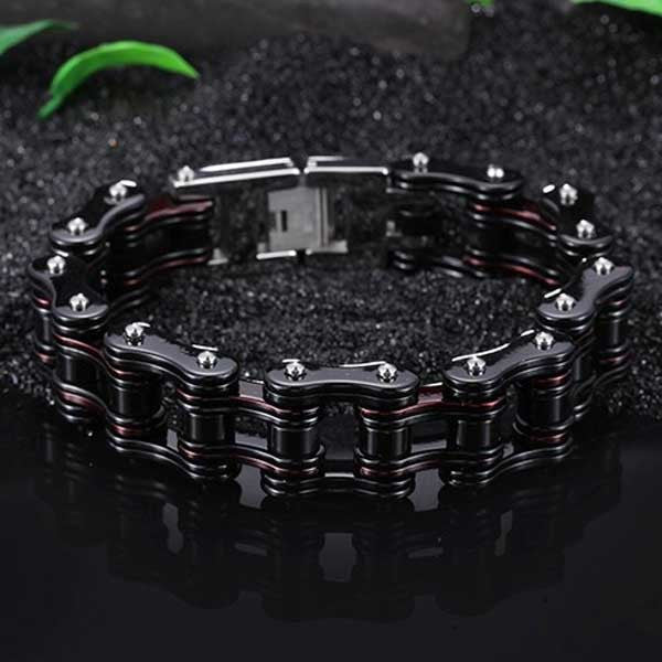 "316L Stainless Steel ""Steeled"" Bracelet - Blown Biker - 8"