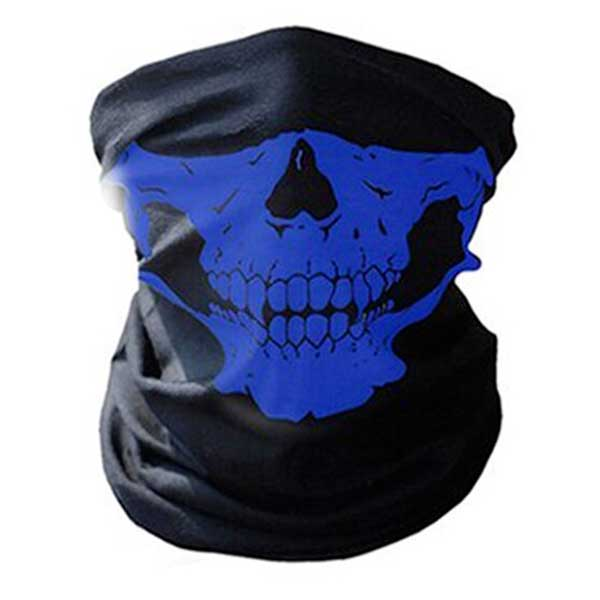 """Skull Rider"" Motorcycle Half-Face Mask - Blown Biker - 6"