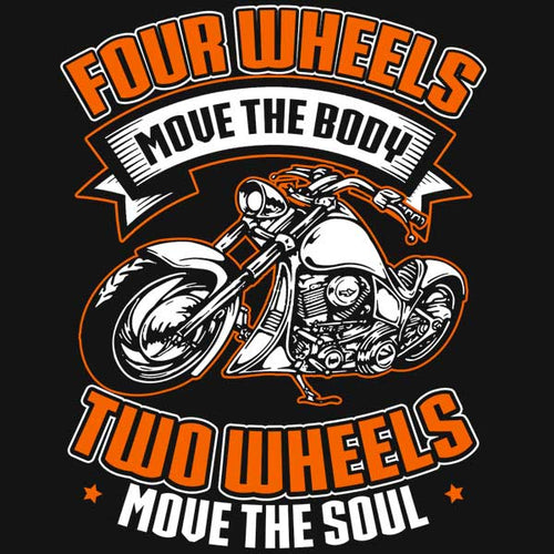 Four Wheels T-Shirt (Front Print) - Blown Biker - 1