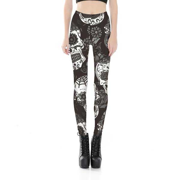"3D Printed ""Giant Skulls"" Leggings"