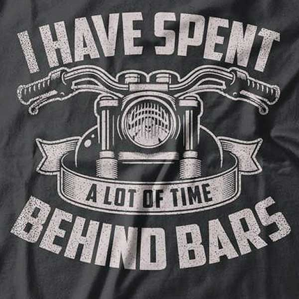 Behind Bars T-Shirt (Front Print) - Blown Biker - 1