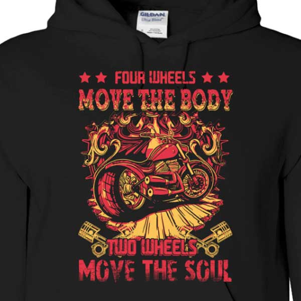 4 Wheels Hoody (Front Print) - Blown Biker - 1