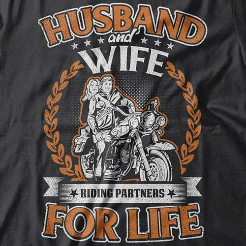 Husband & Wife T-Shirt (Front Print) - Blown Biker - 1