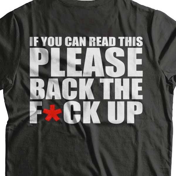 If You Can Read This... T-Shirt (BACK PRINT) - Blown Biker - 1