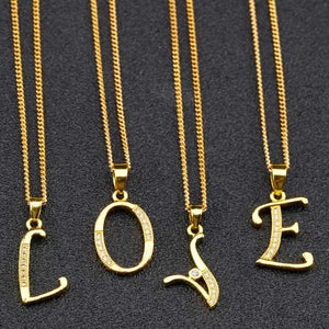 "18K Gold Plated ""A Thru Z"" Pendant Necklace"