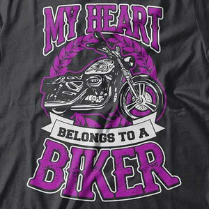 """My Heart"" T-Shirt (FRONT PRINT) - Blown Biker - 1"