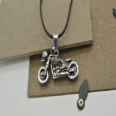 Necklace - Skull Rider Pendant Necklace