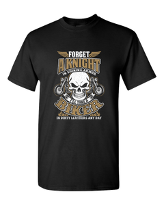 """Forget A Knight"" T-Shirt (FRONT PRINT) - Blown Biker - 2"