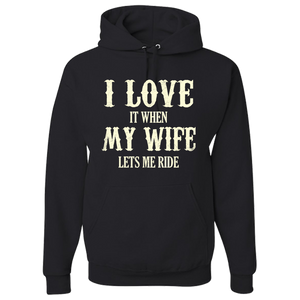 I Love My Wife Hoody - Blown Biker - 2