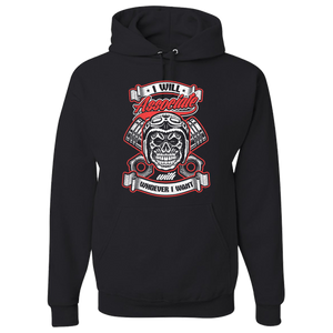 """Associate"" Hoody (Front Print) - Blown Biker - 2"