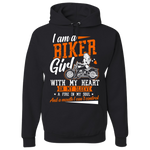 Biker Girl Hoody (Front Print) - Blown Biker - 2