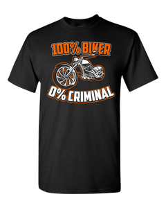 100% Biker T-Shirt (Front Print) - Blown Biker - 2