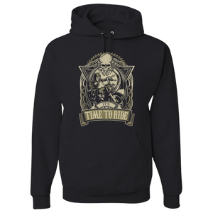 It's Time To Ride Hoody - Blown Biker - 2