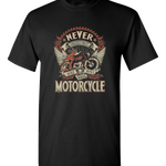 Woman On A Motorcycle T-Shirt - Blown Biker - 2