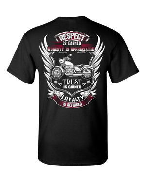 Respect Is Earned T-Shirt (BACK PRINT) - Blown Biker - 2