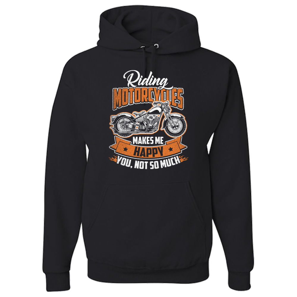 Riding Motorcycles Hoody (Front Print) - Blown Biker - 2