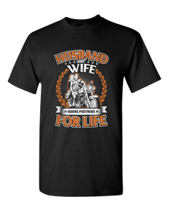 Husband & Wife T-Shirt (Front Print) - Blown Biker - 2