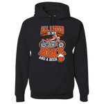 Bike And A Beer Hoody (Front Print) - Blown Biker - 2