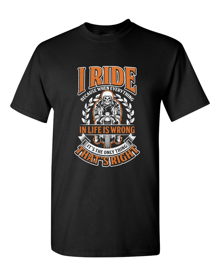 I Ride T-Shirt (Front Print) - Blown Biker - 2