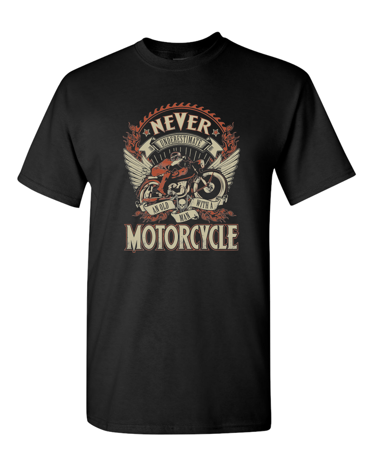 Man On A Motorcycle T-Shirt - Blown Biker - 2
