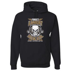 """Forget A Knight"" Hoody (FRONT PRINT) - Blown Biker - 2"