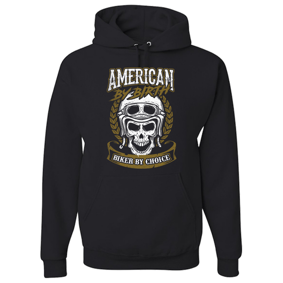 American By Birth Hoody (Front Print) - Blown Biker - 2