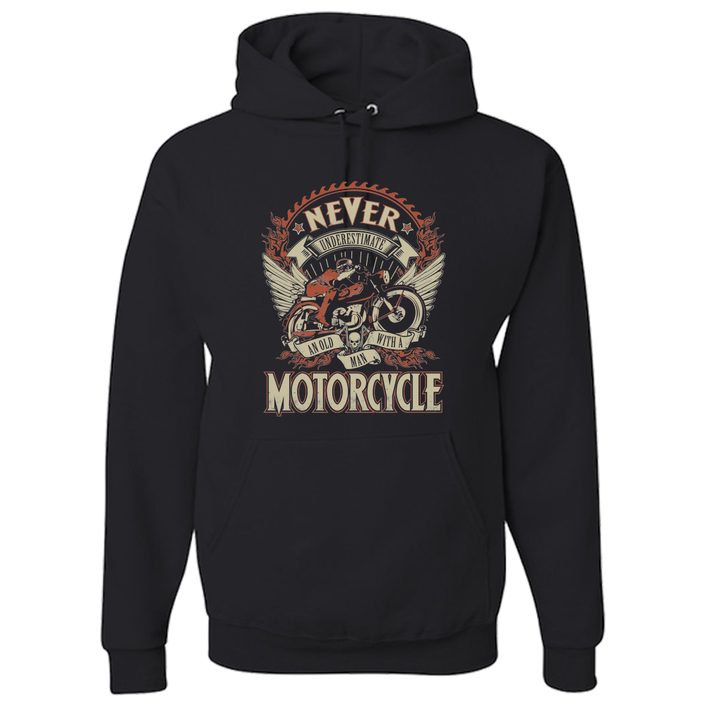 Man On A Motorcycle Hoody - Blown Biker - 2