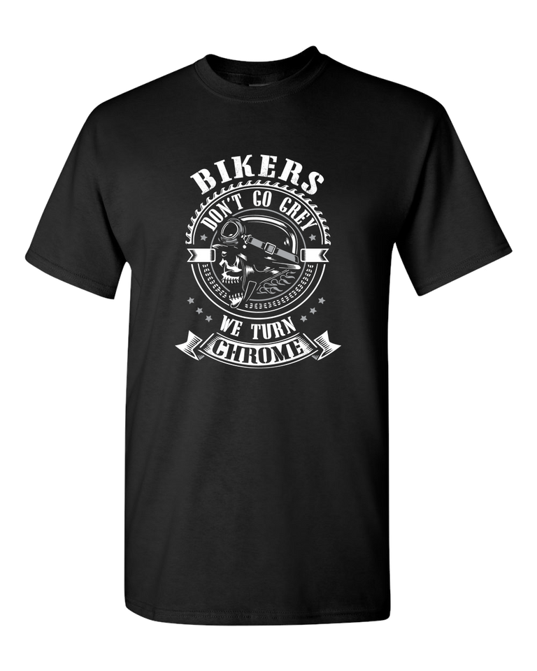 Bikers Don't Go Grey T-Shirt - Blown Biker - 2