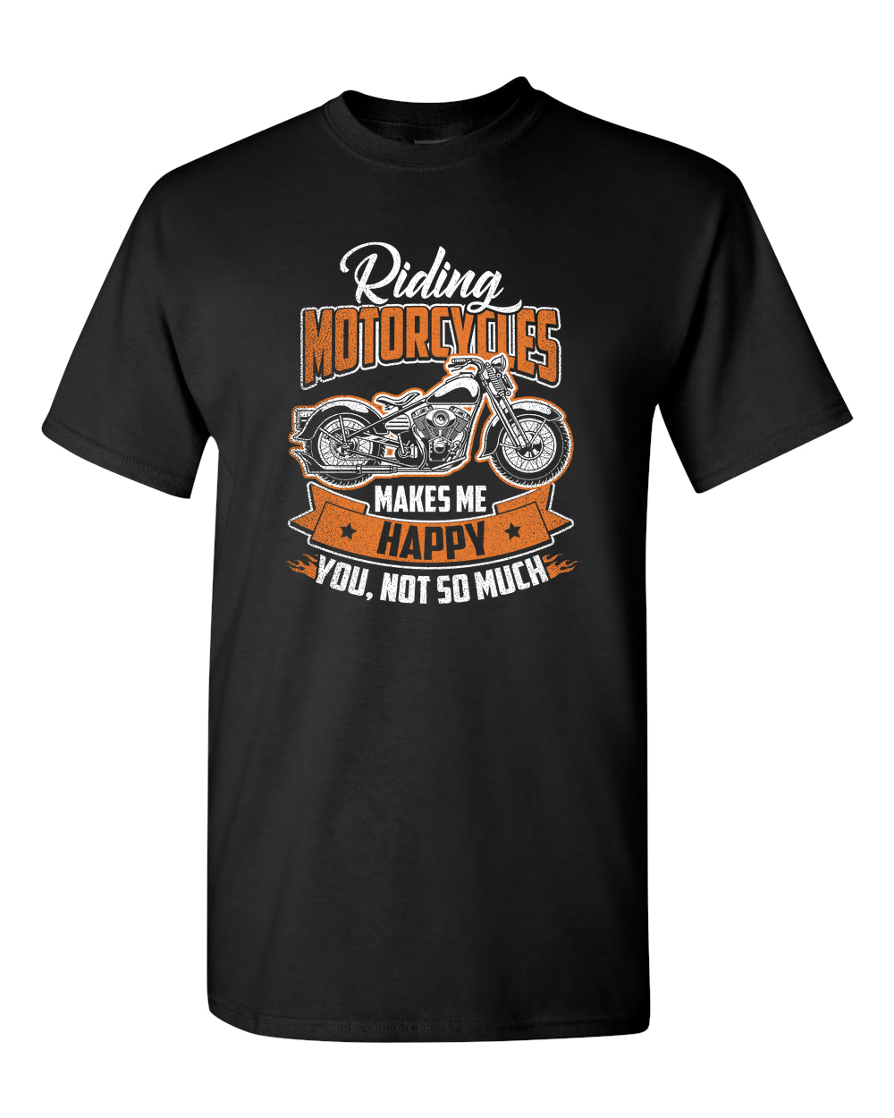 Riding Motorcycles T-Shirt (Front Print) - Blown Biker - 2