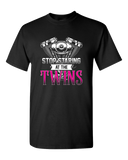 Stop Staring At The Twins T-Shirt - Blown Biker - 2