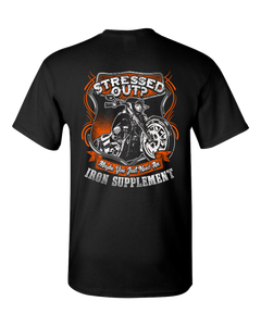 Iron Supplement T-Shirt (Back Print) - Blown Biker - 2