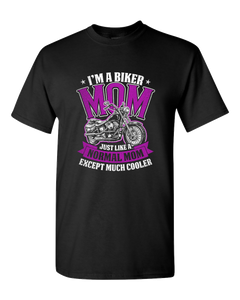 """Biker Mom"" T-Shirt (FRONT PRINT) - Blown Biker - 2"