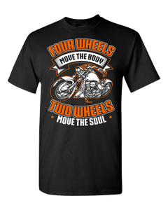 Four Wheels T-Shirt (Front Print) - Blown Biker - 2